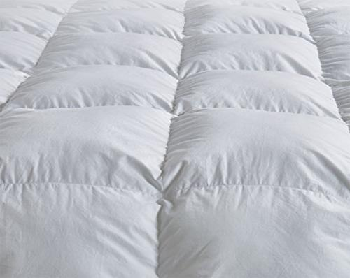 Luxury Duvet All Thread Count Hypoallergenic Cotton Cover Down Proof,Cozy Duvet with Tabs.