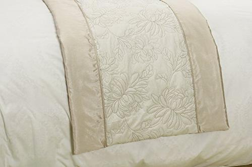 Runner Foot of Bed, Protector Slipcover Pattern, Champagne,25.5 by 86.6 inch