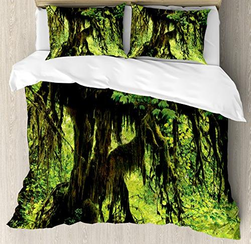 rainforest decorations duvet cover set