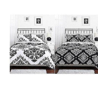 Reversible Cotton Black Twin Full Queen Size