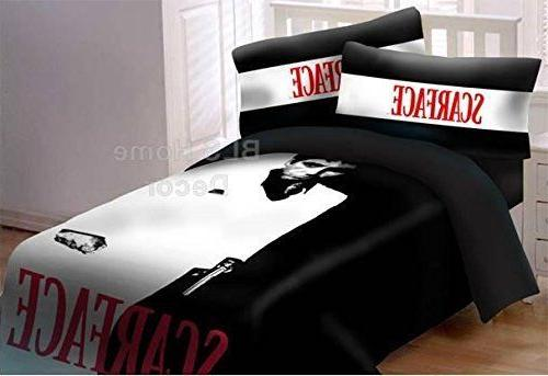Scarface Queen Size Luxury Comforter w/Pillow