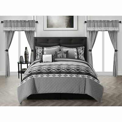 sevrin 20 piece comforter set color block