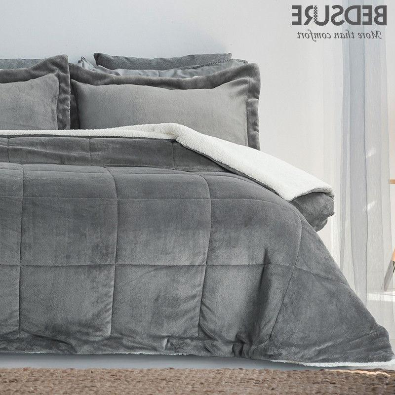 sherpa and flannel comforter set pillow shams