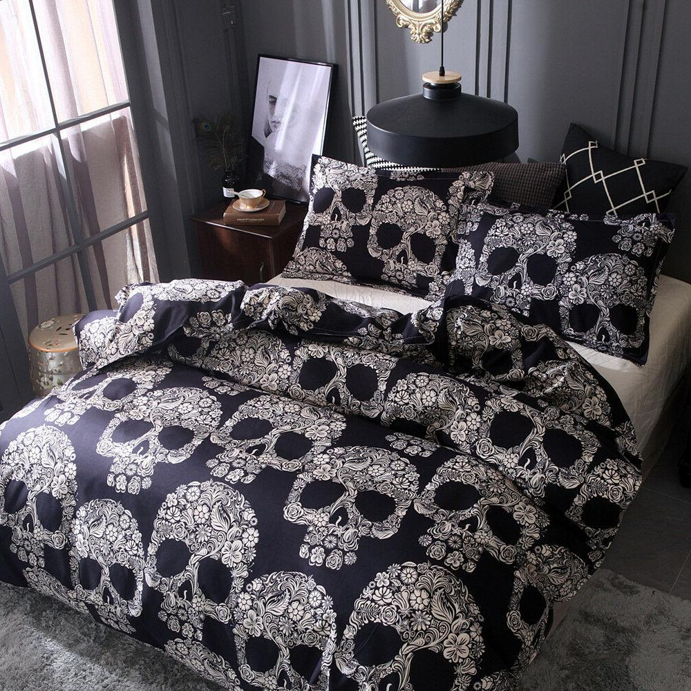 Skull Quilt Set Comforter Set Pillow Case King