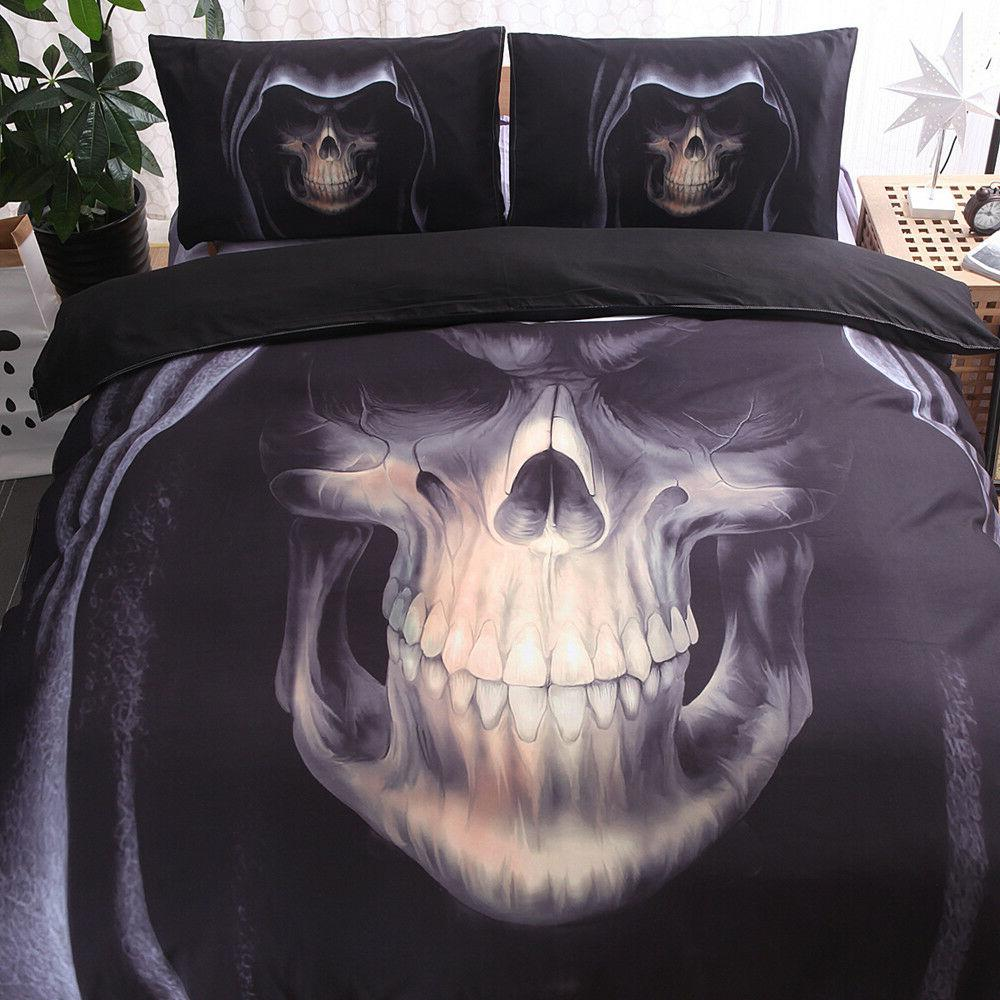 Skull Duvet Set Set King