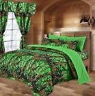 The Woods BIO GREEN CAMO FULL QUEEN SIZE CAMOFLAGE COMFORTER