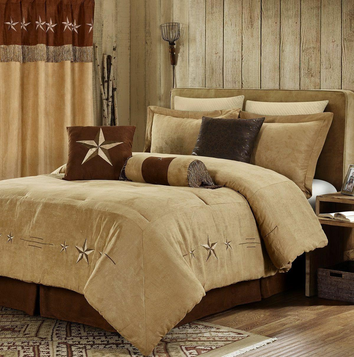 Traditional Texas Lone Star Synthetic Suede Comforter Cal Ki