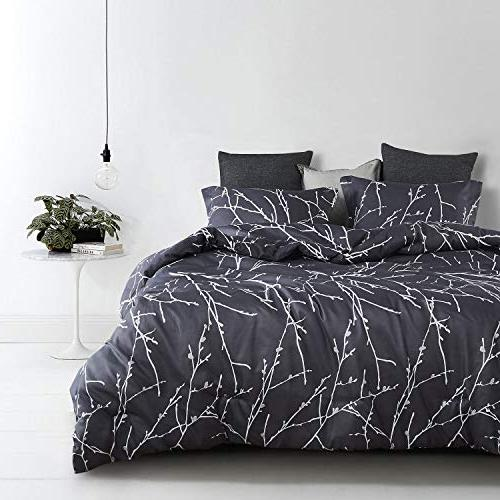 Wake In - Tree Comforter Set, Dark Microfiber