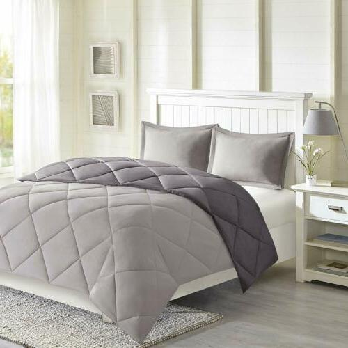 Twin XL Full Queen King Bed Charcoal Gray 3M Stain Resistant