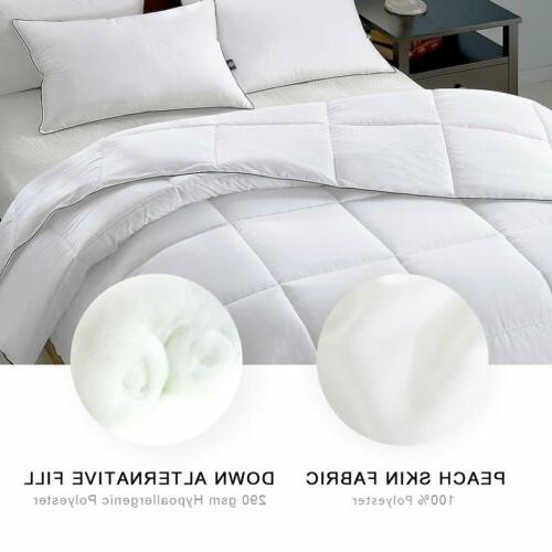 Ultra Soft comforter Hypoallergenic Quilted FULL QUEEN Set
