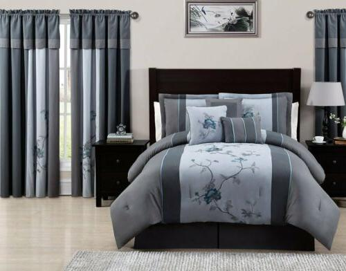 Chezmoi Collection Floral Embroidery Comforter or