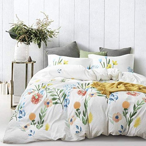 Wake - Watercolor Set, Floral Painting Pattern Printed, Fabric Inner Fill Bedding