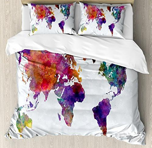 watercolor duvet cover set queen