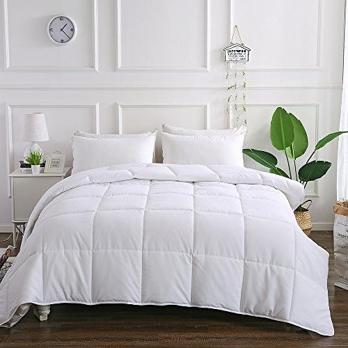 DECROOM Comforter Full Queen Size, Bonus Pillow Quilted Moisture-wicking Treament,Light Weight Soft and Hypoallergenic for All