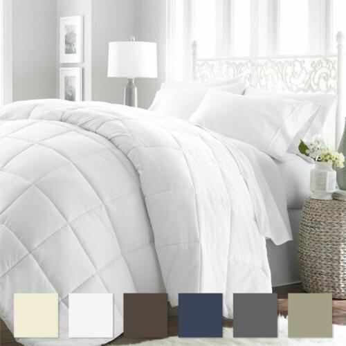 White Goose Down Alternative Comforter Duvet Insert- Twin Fu