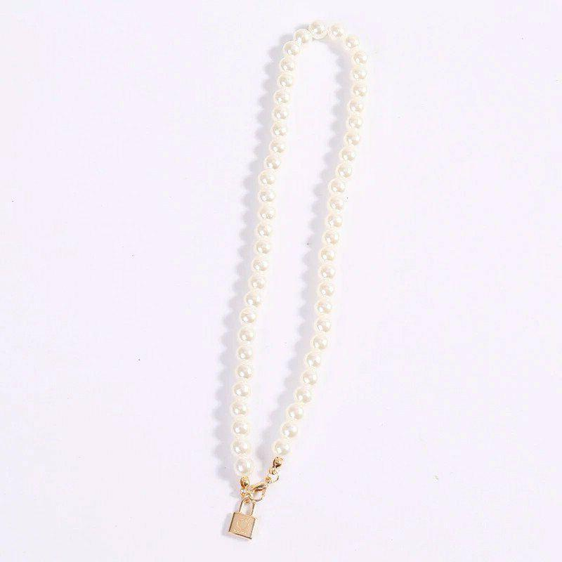 Women Fashion Pearl Coin Chain Necklaces Womens