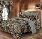 WOODS 13 PIECE COMFORTER SET WITH THROW BLANKET  15 COLORS A
