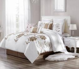 Laney 7 Piece Comforter Set Cotton Touch Oversized Embroider
