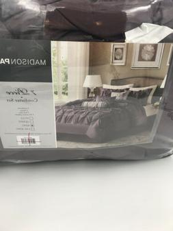 Laurel 7 Piece Comforter Set - Color: Plum, Size: Queen