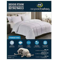 Serta Lightweight White Goose Feather and Down Fiber Comfort