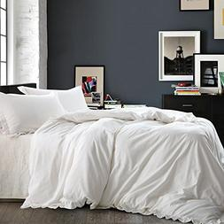 NTBAY Linen 3 Pieces Duvet Cover Set Solid Color with Exquis