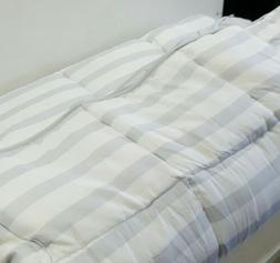 ls70qqgrgwmico quilted comforter queen grey white stripe