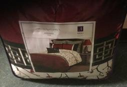 Lush Decor Queen Comforter Bed Set 7 Pieces in Charisma Red