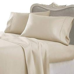 4 Piece LUXURIOUS 1500 Thread Count QUEEN Size Siberian Goos