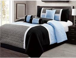 7 Piece Luxury Bed in Bag Comforter Set - Closeout