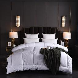 Luxury Bed <font><b>Set</b></font> White Goose/Duck Down Qui