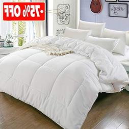 All Season Queen Goose Down Alternative Quilted Comforter wi