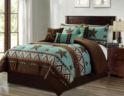 luxury south western pattern turquoise rustic brown