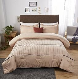 luxury stripe comforter set
