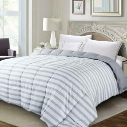 Luxury Supersoft Down Alternative Comforter Striped Twin Que