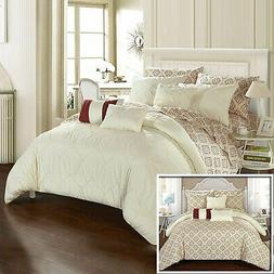 maddie 10 piece reversible comforter bed in