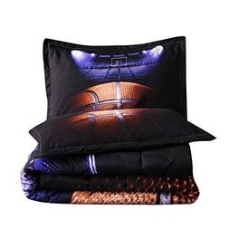 A Nice Night Madness Basketball Printing Comforter Quilt Bed