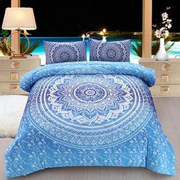 Meeting Story 3Pcs Mandala Bohemian Moonlight Bedding Bedspr