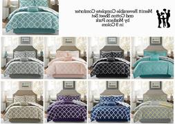 Madison Park Merritt Reversible Complete Comforter and Cotto
