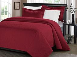 mikanos ultrasonic embossed bedspread set