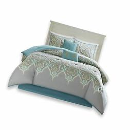 Comfort Spaces - Mona Cotton Printed Comforter Set - 6 Piece