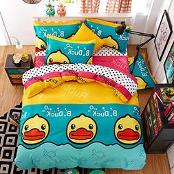 Fashion Monkey Design Kids/Adult Bedding Sets No Comforter 4