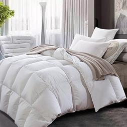 ROYALAY Luxurious All-Seasons White Goose Down Comforter-Sol