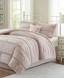 Madison Park Celeste Queen Size Bed Comforter Set - Pink, Ru