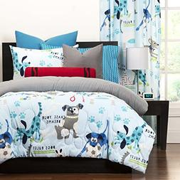 3 Piece Multi Puppies Chase Your Dream Printed Comforter Ful