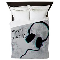 CafePress - Music - Queen Duvet Cover, Printed Comforter Cov