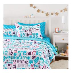 New Girl's Full / Queen Size Comforter Set Sheets Bed in a B