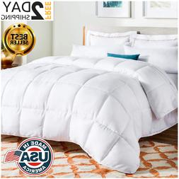 New Queen Size Goose Down Comforter White Blanket Luxury Bed