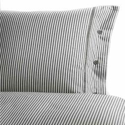 IKEA NYPONROS Duvet Comforter Cover 2 Shams Set Gray White S