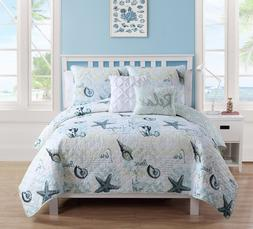 Ocean Coastal Bedding Set Full Queen Quilt Comforter Beach S
