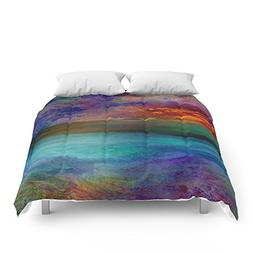 "Society6 Ocean At Sunset Comforters Queen: 88"" x 88"""